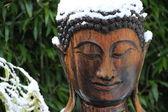 Boeddha ve sněhu — Stock fotografie