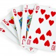 Stock Photo: Heart royal flush