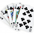 Clubs royal flush - Stock Photo