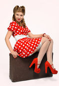 Pretty pinup girl — Stock Photo