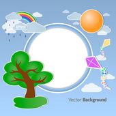 Summer round background — Stock Vector