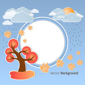 Autumn round background — Stock Vector