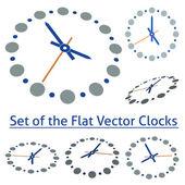 Flat Vector Clocks — Stock Vector