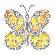 Abstract Mehndi butterfly - vector illustration — Stock Vector