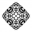 Abstract vector mehndi tattoo ornament — Stockvectorbeeld