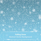 Falling snow vector background — Stock Vector