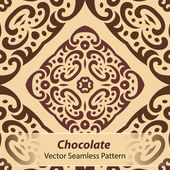 Chocolate Vector Seamless Pattern — Stock Vector