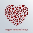 Stock Vector: Valentines day card with heart.