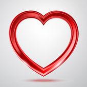 Résumé de forme de coeur brillant — Vecteur