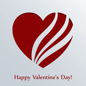 Valentines day card with heart. — Vettoriale Stock
