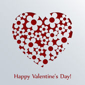 Valentines day card with heart. — Stock Vector