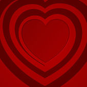 Red spiral heart - vector illustration. — Stock Vector