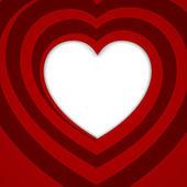 红色的螺旋线的心-矢量图. — 图库矢量图片
