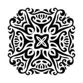 Abstract vector mehndi tatoeage ornament — Stockvector
