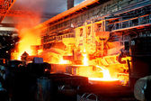 Steel casting of open-hearth furnaces — Stock Photo