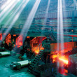 Stock Photo: Rolling mill steel works
