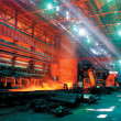 Rolling mill steel works - Stock Photo