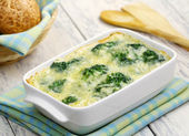 Broccoli, baked with cheese and egg — Stock Photo