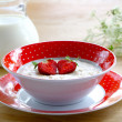 Stock Photo: Porridge with berries strawberry