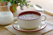 Buckwheat porridge with milk — Stock Photo