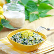 Royalty-Free Stock Photo: Risotto with nettles and lemon