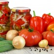 Stock Photo: Canned vegetable salad. Нomemade