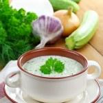 Постер, плакат: Vegetarian cold soup zucchini