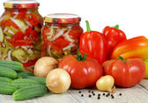 Canned vegetable salad. Нomemade — Stock Photo
