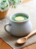 Sorrel soup. — Stock Photo