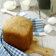 Homemade wheat bread with  bran - Stock Photo