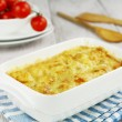 Cauliflower baked with cheese - Stock Photo