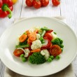 Steamed vegetables. Vegetarian food — Stock Photo