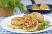 Cutlets cauliflower — Stock Photo