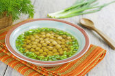 Soup with chickpeas and herbs — Stock Photo