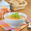 Stock Photo: Cream soup red lentils
