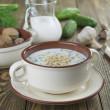 Tarator, bulgarian sour milk soup — Stock Photo