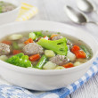 Soup with meatballs and vegetables — Stock Photo #32487945