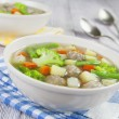 Soup with meatballs and vegetables — Stock Photo #32487957