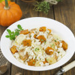 Risotto with chicken, pumpkin and leek — Stock Photo #34090063