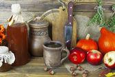 Zucca e succo di mela — Foto Stock