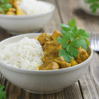 Chicken curry with rice — Stock Photo #34956997