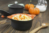 Millet porridge with pumpkin — Stok fotoğraf