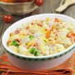 Stock Photo: Casserole with meat and vegetables