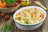Casserole with meat and vegetables — Stock Photo