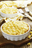 Pasta baked with cheese — Stock Photo