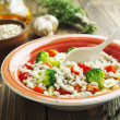 Stock Photo: Barley porridge with vegetables