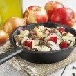Chicken liver stewed with apples and onion — Stock Photo #39884055