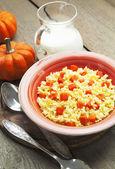 Millet porridge with pumpkin — Stock Photo