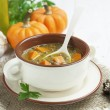 Stock Photo: Lentil soup with pumpkin