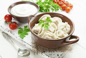 Dumplings with meat — Stock Photo